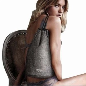 VICTORIA'S SECRET  Glitter Sparkle Drawstring Bag